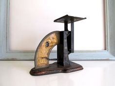 Vintage Black Postal Scale Industrial Ideal by RollingHillsVintage