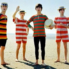 The Beatles at the beach...what more could we ask for?
