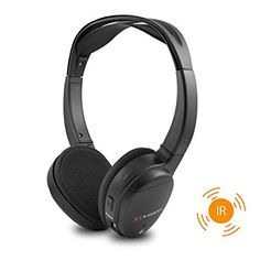 Amazon.com: XO Vision IR620 Universal IR Infrared Wireless Foldable Headphones for In-Car TV, DVD, & Video Listening: Car Electronics