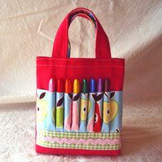 Coloring Tote Crayon Bag  via Etsy.