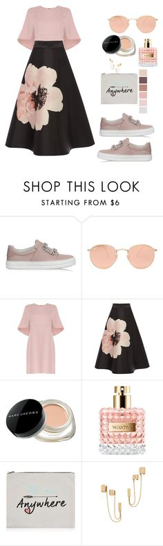 """Untitled #122"" by elifie ❤ liked on Polyvore featuring Roger Vivier, Ray-Ban, Valentino, Marc Jacobs, New Look and Rachel Zoe"