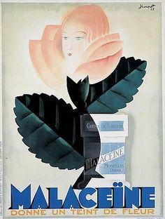 Charles Loupot, Malaceïne donne un teint de fleur, 1929