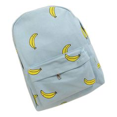 Cute Girl Banana Pattern Printing Backpack Traveling Outdoor Pratical Backpack Unique Fashion Canvas Backpack for Teenage Girls