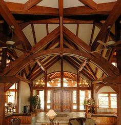 Timber frames are so beautiful