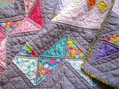 ticker tape quilt - this seems like such a sane way to make a colorful quilt.  Will try soon!