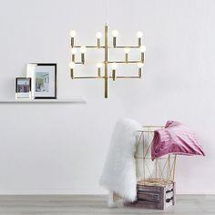 Niepowtarzalny design obok którego nikt nie przejdzie obojętnie. Złoto dominuje Led Lamp, Instagram, Inspiration, Home Decor, Glamour, Chic, Cluster Pendant Light, Lily, Light Fixture
