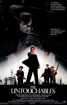 The Untouchables movie poster - One of my all time favourite films!