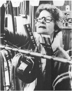 Dede Allen, editor of Bonnie and Clyde, Dog Day Afternoon and the Breakfast Club, to name a few  http://en.wikipedia.org/wiki/Dede_Allen