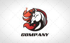 Modern Stallion Logo For Sale  #logo #logos #mascot #animal #animals #cute #dog #vector #design #website #webdesign #horse #stallion logos for sale