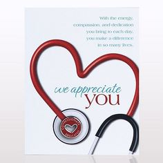 Character Pin - Stethoscope: We Appreciate You - Baudville