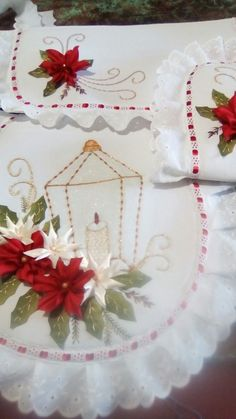 Christmas Crafts, Xmas, Sewing Crafts, Diy And Crafts, Patches, Ribbon, Embroidery, Akira, Creative