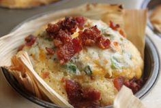 Jalapeno Stuffed Cornbread with bacon, tamale