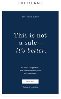 Everlane sale email. SL: This Has Never Happened Uploaded by user