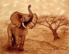 Elephant Majesty original coffee painting Art Print by Georgeta Blanaru Watercolor Paintings Abstract, Painting Prints, Original Paintings, Art Prints, Painting Art, Coffee Artwork, Coffee Painting, Coffee Drawing, Elephant Art