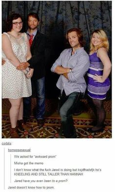 """""""Jared doesn't know how to prom"""" .. Misha Collins and Jared Padalecki:"""
