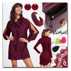 """7 romwe"" by fatimka-becirovic ❤ liked on Polyvore featuring Oscar de la Renta"