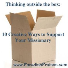 10 creative ways to support your missionary