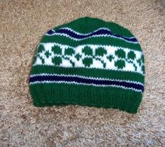 Free Knitting Pattern - Hats: Ireland Rugby Hat