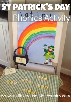 A Simple St Patrick's Day and Rainbow Themed Phonics Activity - Our Little House in the Country