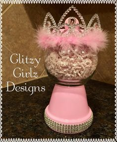 Faux handmade princess tiara pink diva bling by GlitzyGirlzDesigns