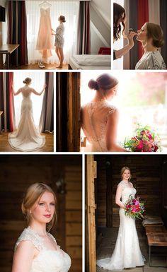 Heiraten auf der Alm im tollen Brautkleid © Monja Kantenwein