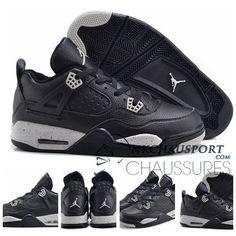 Nike Air Jordan 4   Classique Chaussure De Basket Homme Noir-7