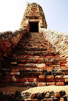 Into the towers of Ayutthaya, Thailand