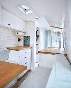 23 Amazing Van Life Interior Ideas For Inspiration How awesome is this all white van interior? Check out the list of 23 more! 23 Amazing Van Life Interior Ideas For Inspiration How awesome is this all white van interior? Check out the list of 23 more! Trailers Camping, Camper Trailers, Camper Van, Camper Hacks, Rv Camping, Campers, Van Conversion Interior, Van Interior, Interior Design