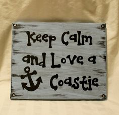 Hand painted canvas sign with Coast Guard by CoastieGirlDesigns