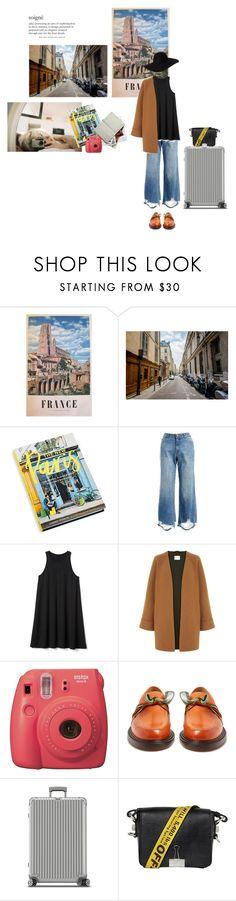 """+ Paris."" by helloeymee ❤ liked on Polyvore featuring Berta, Abrams, DL1961 Premium Denim, Gap, Fujifilm, Maison Margiela, Rimowa, Off-White, Monki and travel"