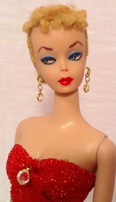One day I will have one of these, preferably brunette Vintage Ponytail Barbie #1-Must See~By Robin~