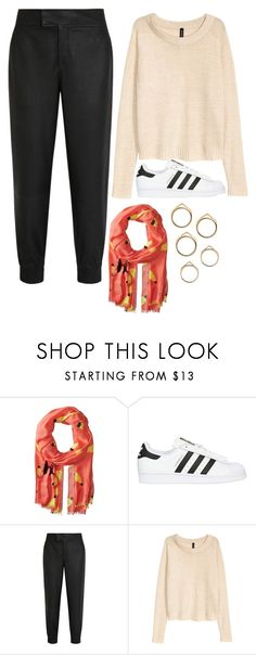 """""""Untitled #11510"""" by beatrizibelo ❤ liked on Polyvore featuring Kate Spade, adidas Originals, Helmut Lang and H&M"""