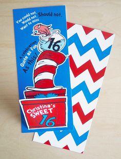 Dr. Seuss Party Invitation