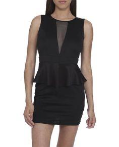 38e765ad7a Arden B. Women s Mesh Peplum Dress Xs Black