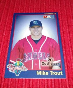2010 Cedar Rapids Mike Trout Anaheim Angels DAV---LIMITED