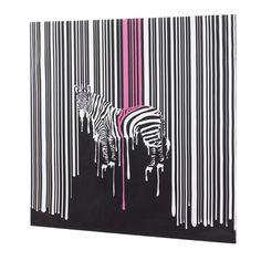 Melting zebra canvas - dwell - £299
