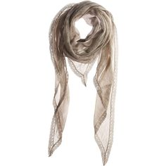 Belen Scarf (17,815 INR) ❤ liked on Polyvore featuring accessories, scarves, sciarpe, аксессуары, women, sheer shawl, sheer scarves, faliero sarti scarves and faliero sarti