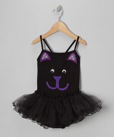 Take a look at this Black & Purple Kitty Tutu Leotard - Toddler & Girls by little bits on #zulily today!