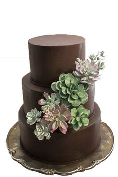 Succulent Wedding Cake Topper- Collection of 8
