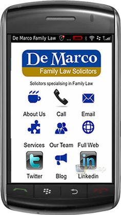 Family Law firm show innovative ways to reach mobile customers with stylish web app design.