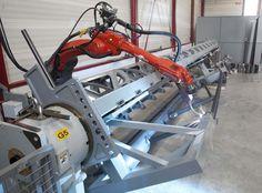 la soudure robotisée grande dimension (jusqu'à 8,9 m) dans l'entreprise Bossard et Cie