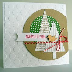 Christmas Card Made Out Of Paper Scraps @Blogblom