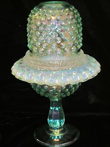 Fenton Green Opalescent Iridescent