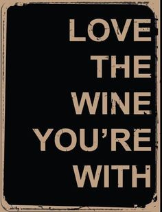 Love Wine You Are With Metal Sign, Contemporary Bistro, Bar, Restaurant Decor #OMSC #Contemporary