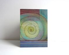 Mini Art ACEO One-of-a-kind painting on wood mixed media