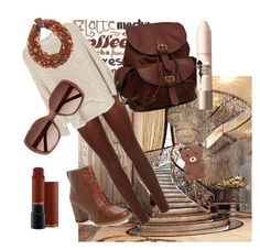 """#latte mocha"" by adriane-quoos on Polyvore featuring SET, MANGO, Timberland, AmeriLeather, Eskandar, Forever 21, MAC Cosmetics, Maybelline and Chloé"