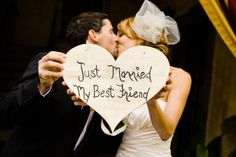 """Just Married My Best Friend"" love the idea."