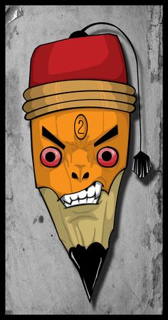 Angry Pencil by igeking.deviantart.com on @DeviantArt