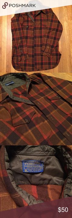 Vintage Pendleton Flannel Barely worn. Like new, no flaws. Fits like a tall large. Always up for offers! Pendleton Shirts Casual Button Down Shirts