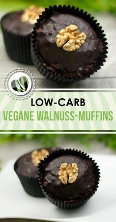 Die veganen Walnuss-Muffins sind auch noch low-carb und glutenfrei.